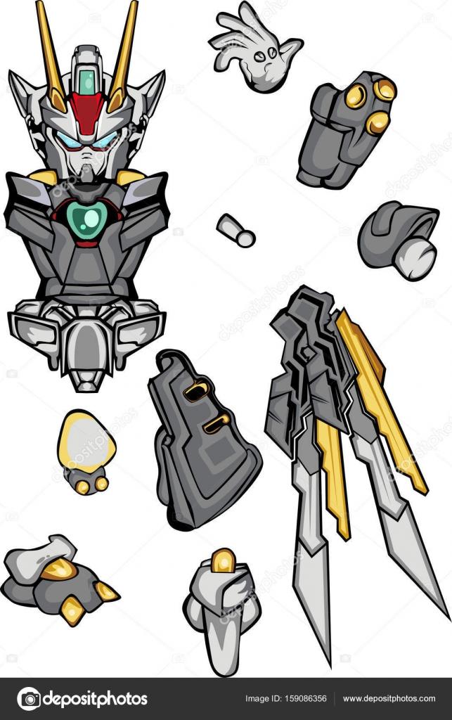G robo body part — Stock Vector © andhikasintink #159086356