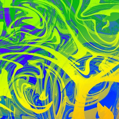 liquid abstract background with oil painting streaks