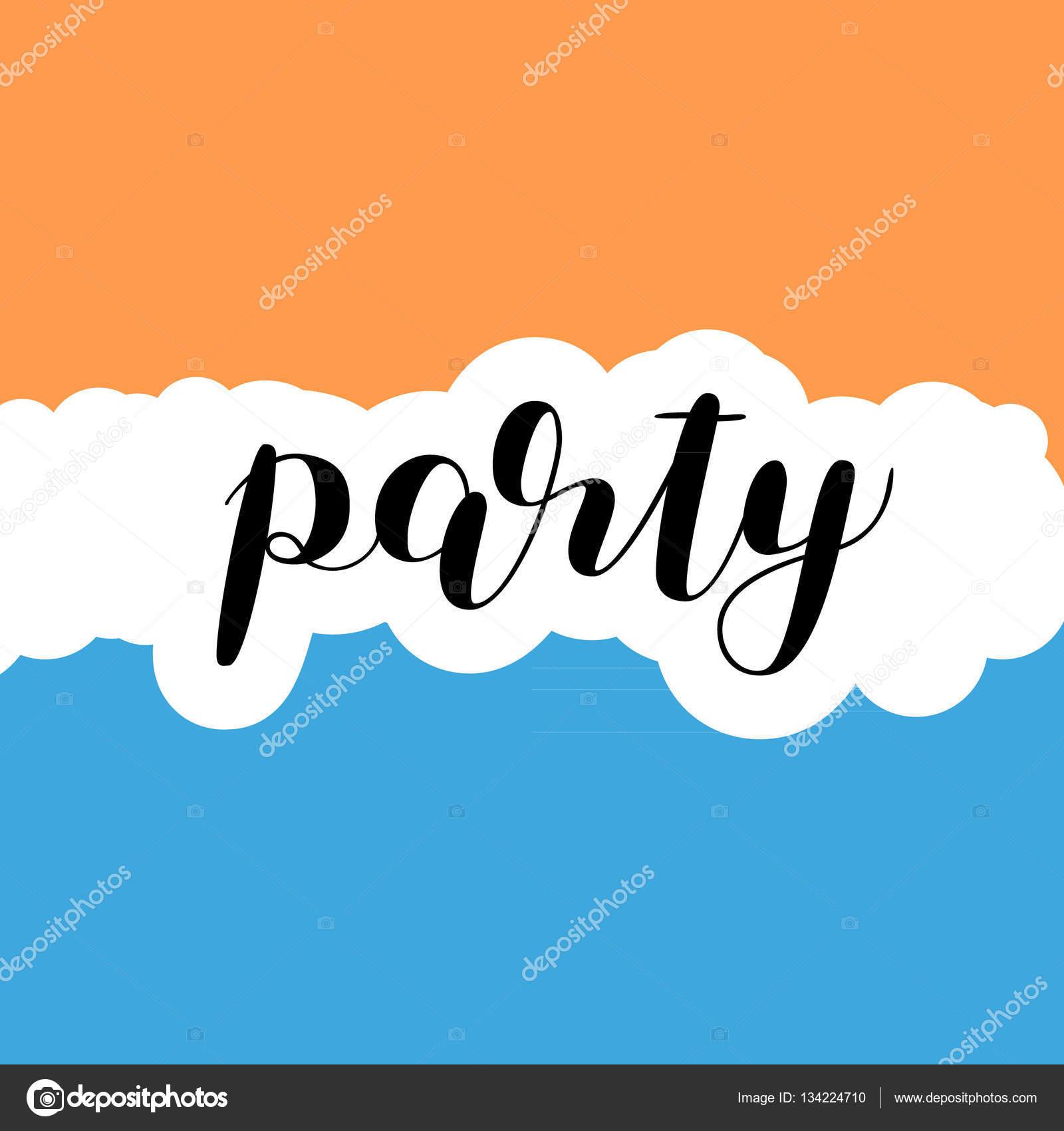 Partei. Pinsel-Schriftzug — Stockvektor © Siberica #134224710