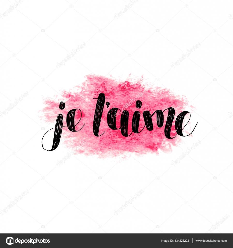 Imágenes Je Taime Vectoriel Je T Aime Te Amo En Francés