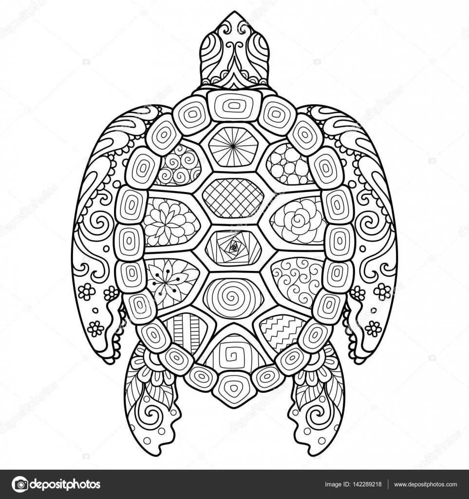 zendoodle stileren mooie schildpad voor t shirt design