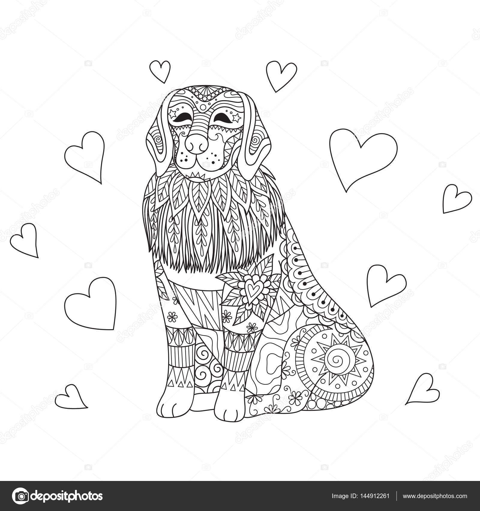 zendoodle ontwerp labrador hondenras voor volwassene