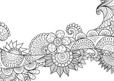 zendoodle design of flower flow for banner,background, card and other design element