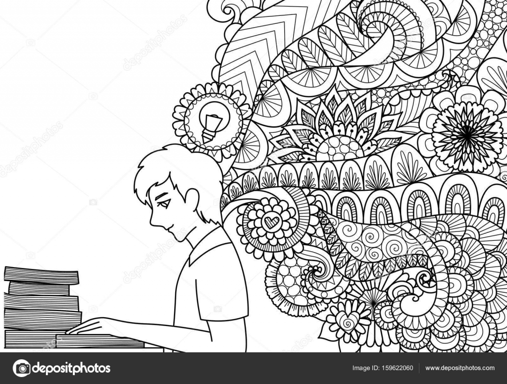 Satırları Sanat Tasarım Illüstrasyon Ve Yetişkin Ya Da çocuk Boyama