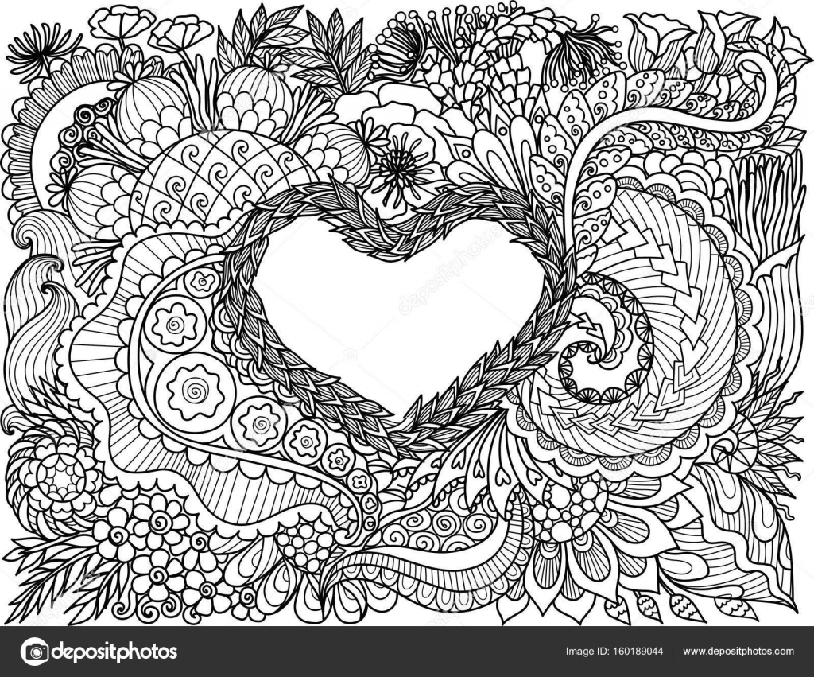 Künstlerischer Entwurf der schöne abstrakte Linie Blumen Blättern in ...