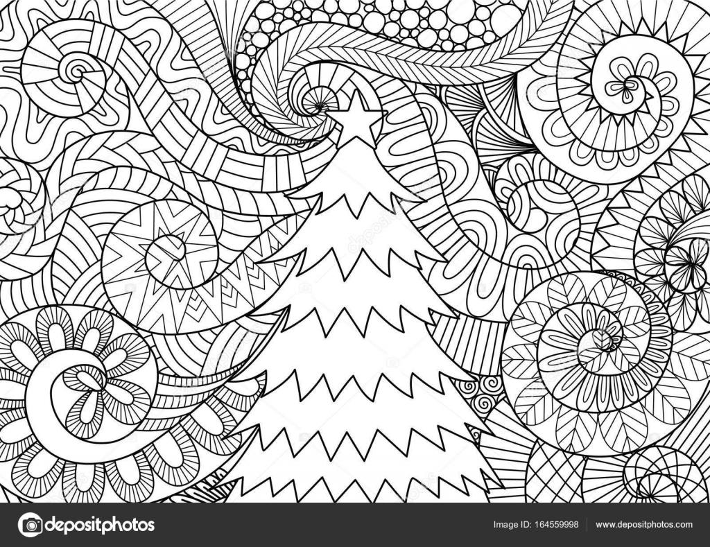 Flujo de tormenta y árbol de Navidad — Vector de stock © somjaicindy ...