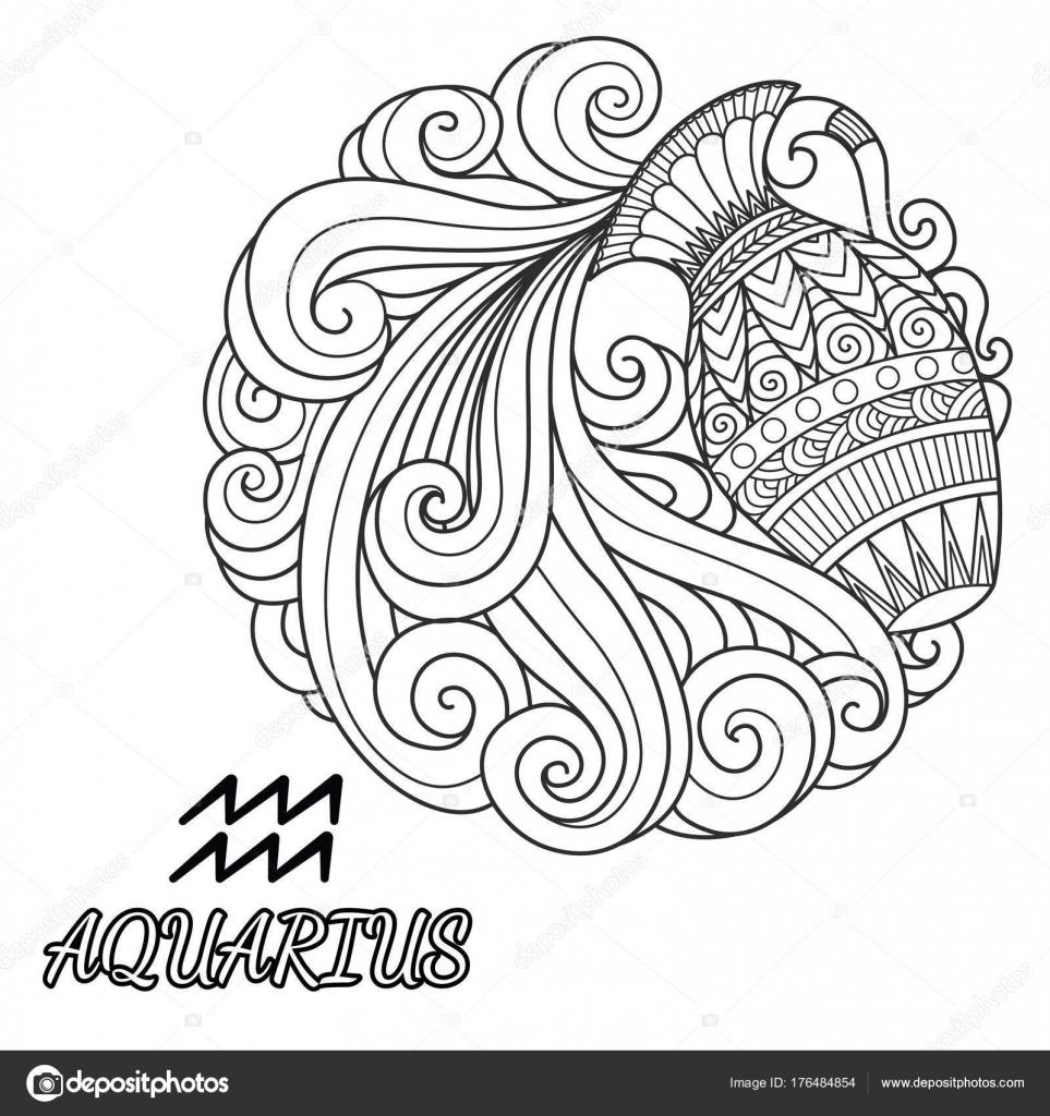 Disegno Acquario Segno Zodiacale.Disegno Bambini Segno Zodiacale Da Colorare Coloradisegni