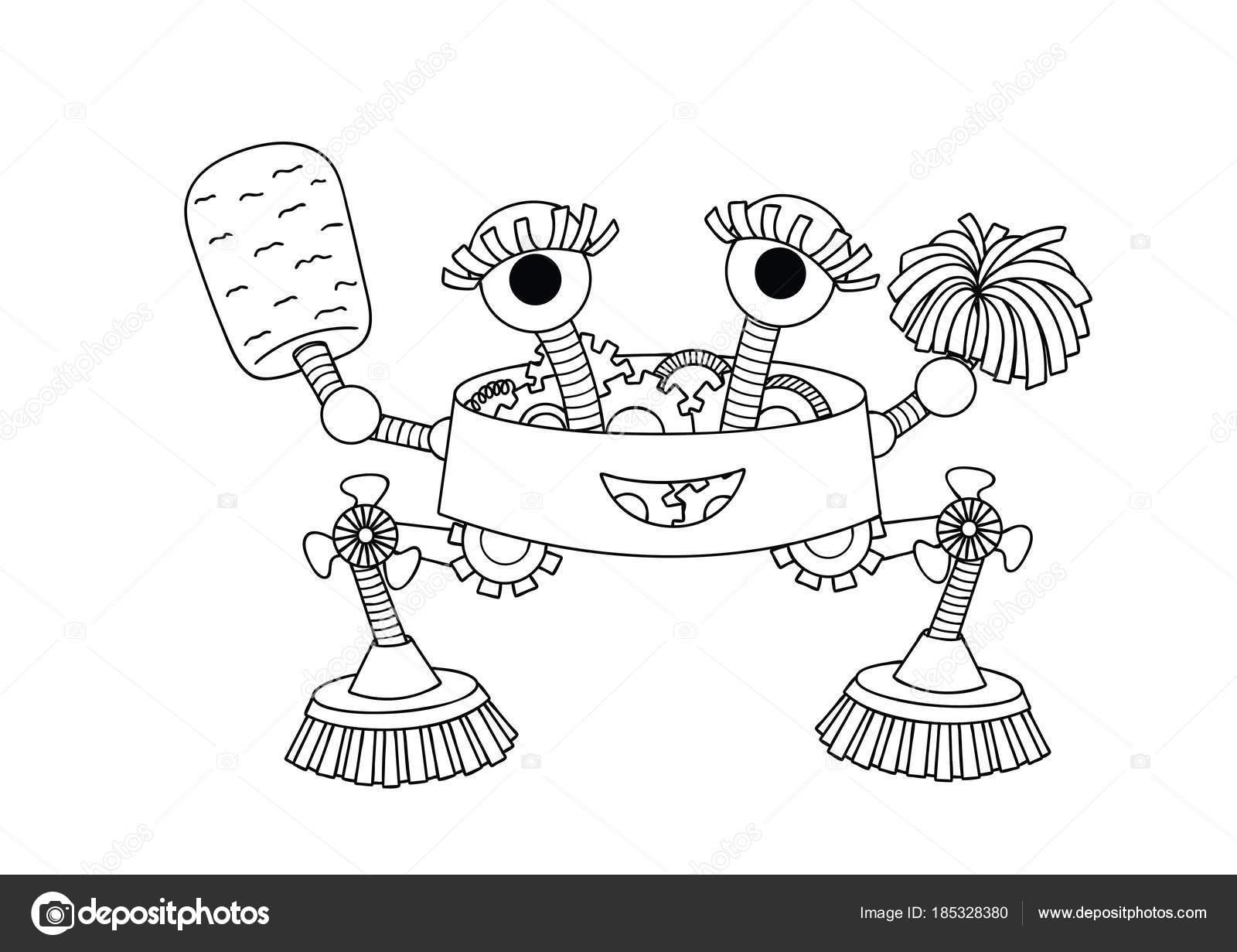 Imagenes Una Ama De Casa Para Colorear Robot Ama Casa Lindo