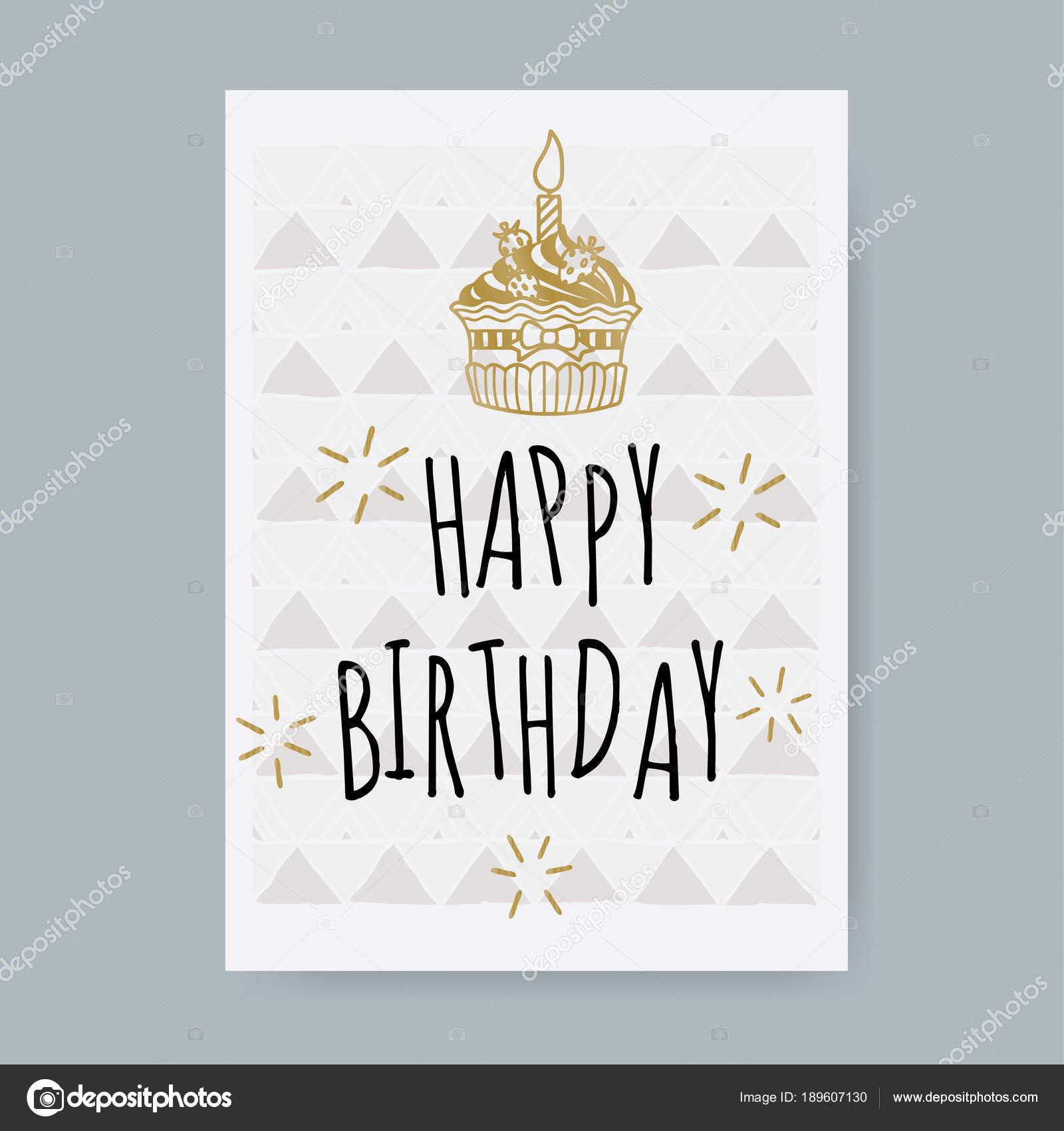 Happy Birthday Karte.Happy Birthday Card Design Template Stock Vector Somjaicindy