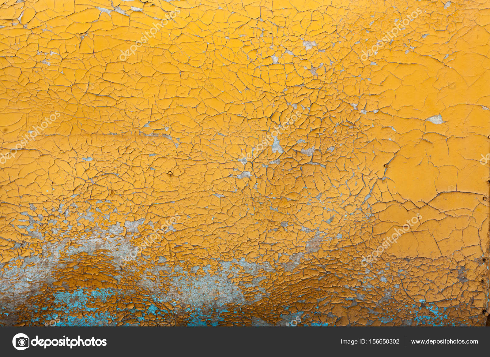 Peeling Paint On Wall Seamless Texture Pattern Of Rustic Yellow Grunge Material Stock