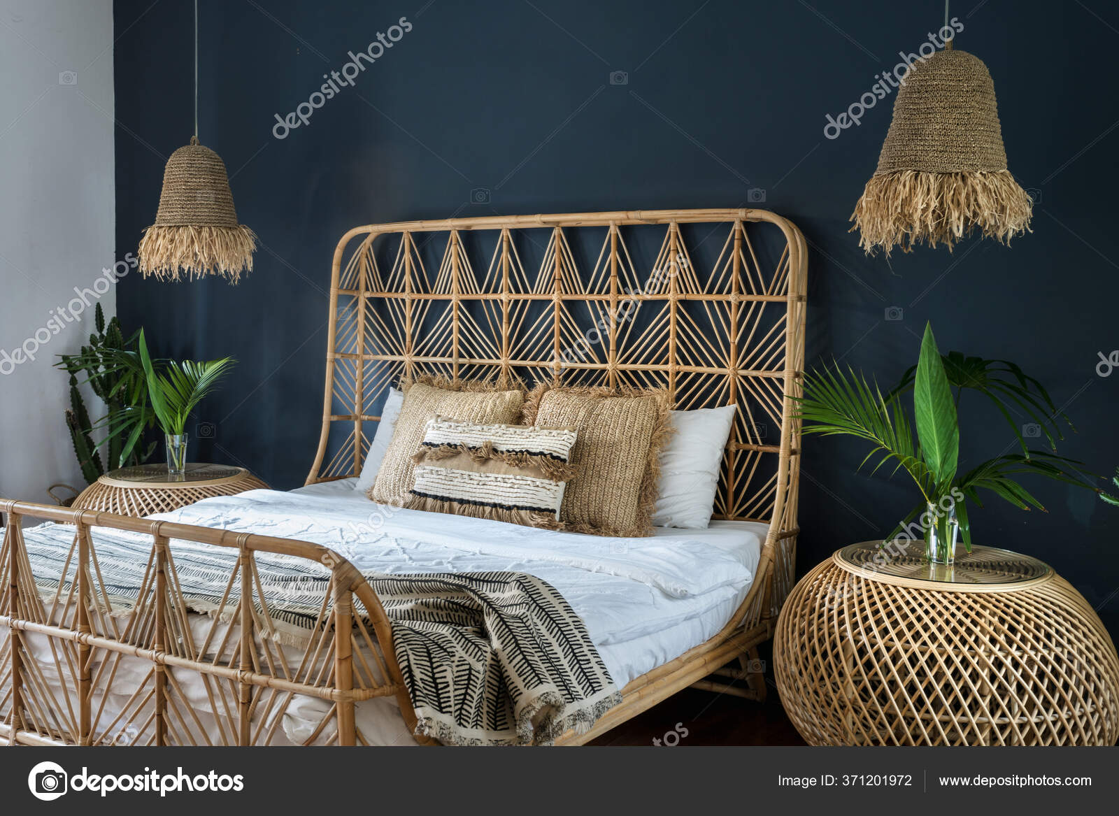 Bamboo Headboard Stock Photos Royalty Free Bamboo Headboard Images Depositphotos