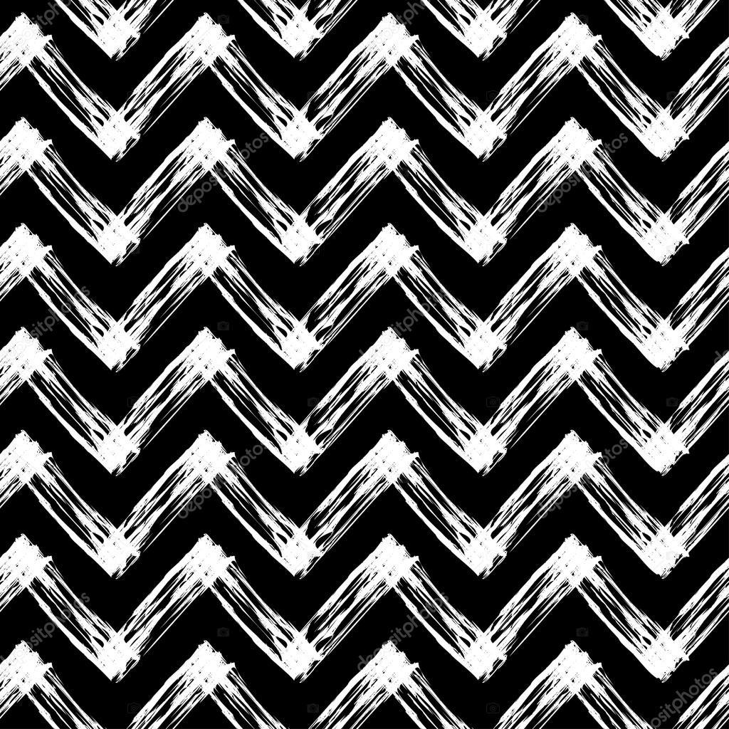 Schwarze und weiße Zick-Zack-Muster — Stockvektor © harmonia_green ...