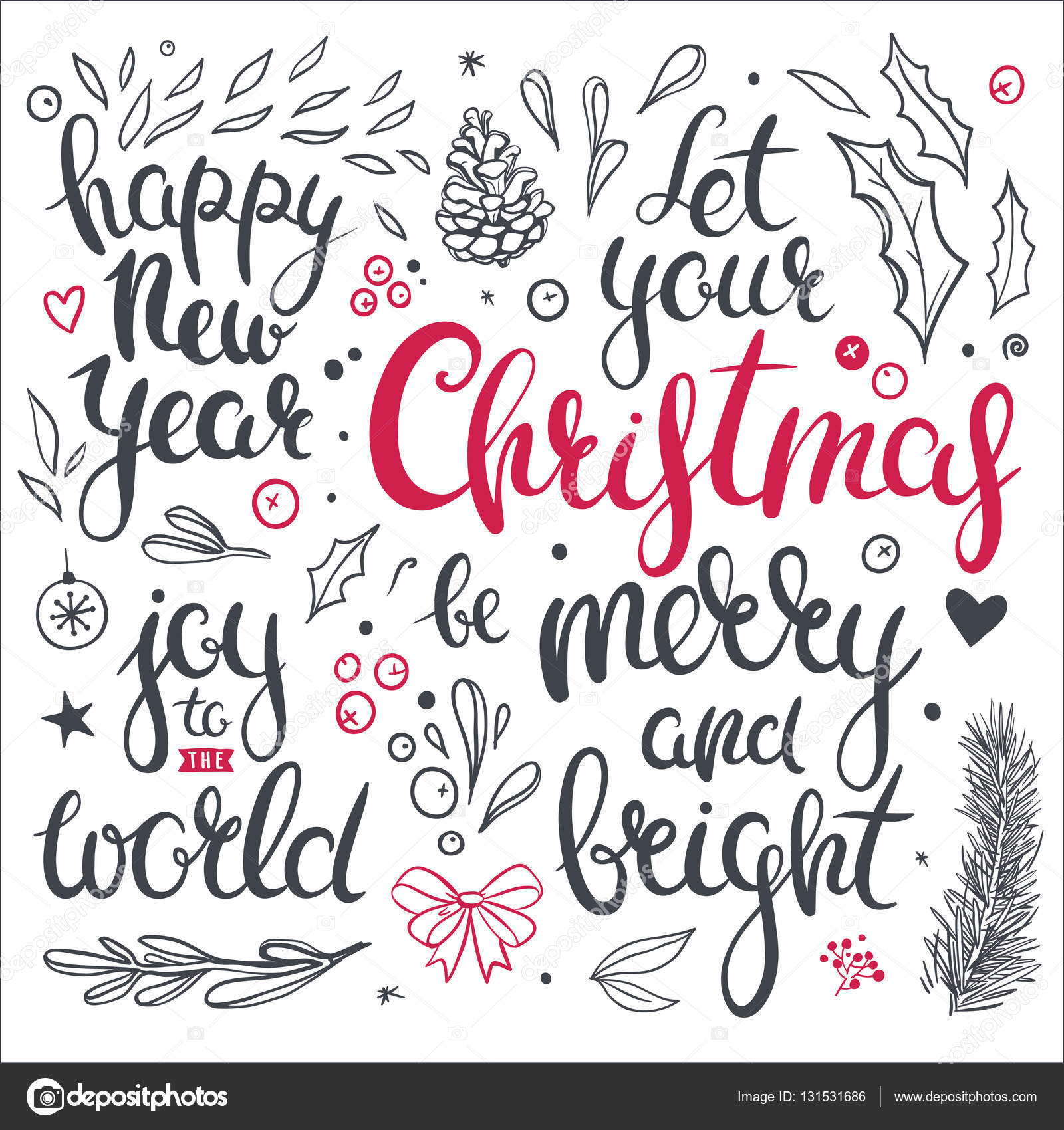 christmas overlays and clip art stock vector - Christmas Overlays