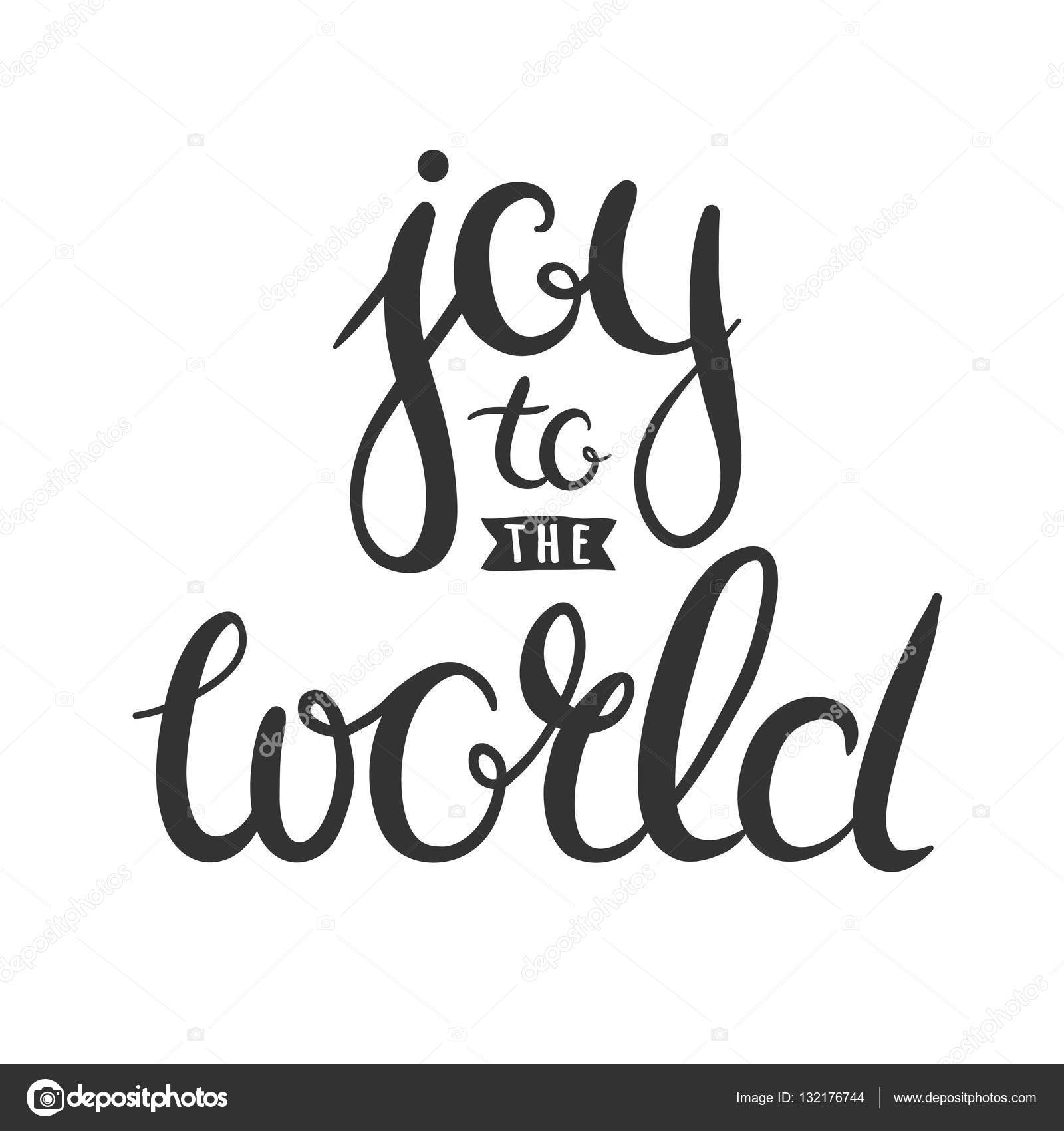 Joy to the world handwritten in calligraphy stock vector joy to the world hand drawn lettering vector christmas greetings isolated on white vector by harmoniagreen kristyandbryce Gallery