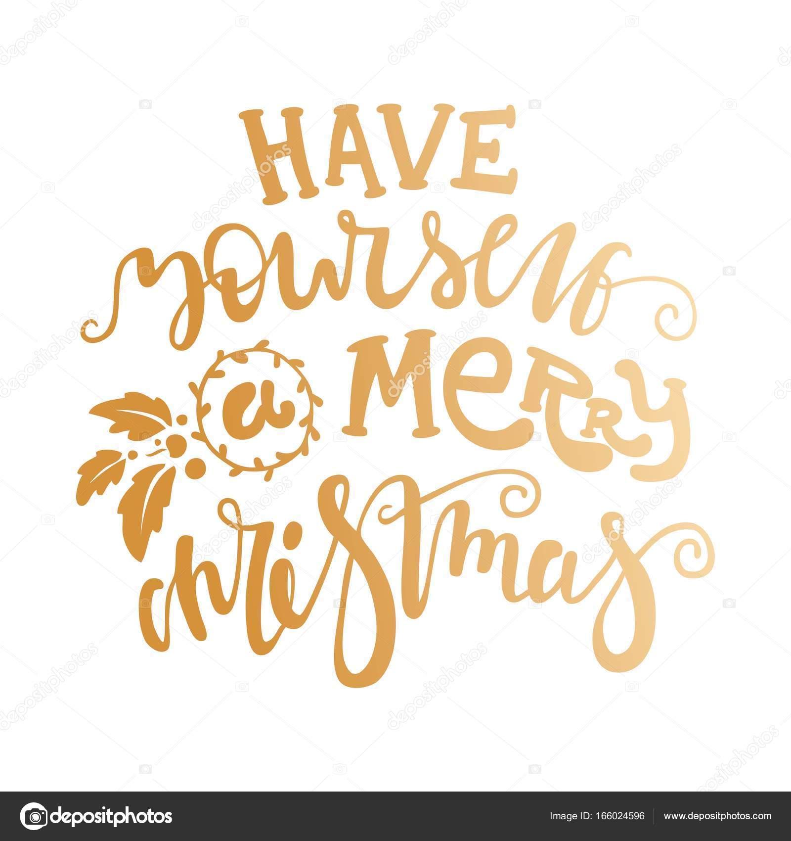 Heb zelf een vrolijk kerstfeest — Stockvector © wewhitelist #166024596
