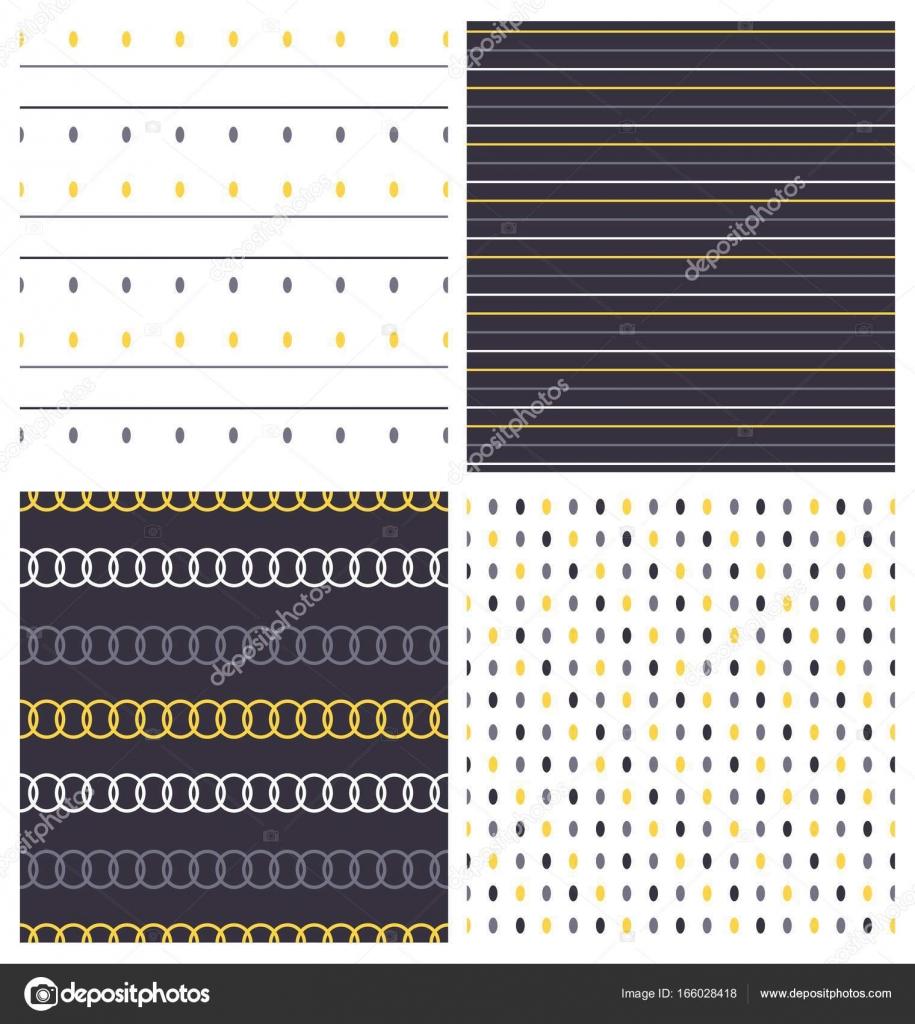 conjunto de patrones sin fisuras — Archivo Imágenes Vectoriales ...