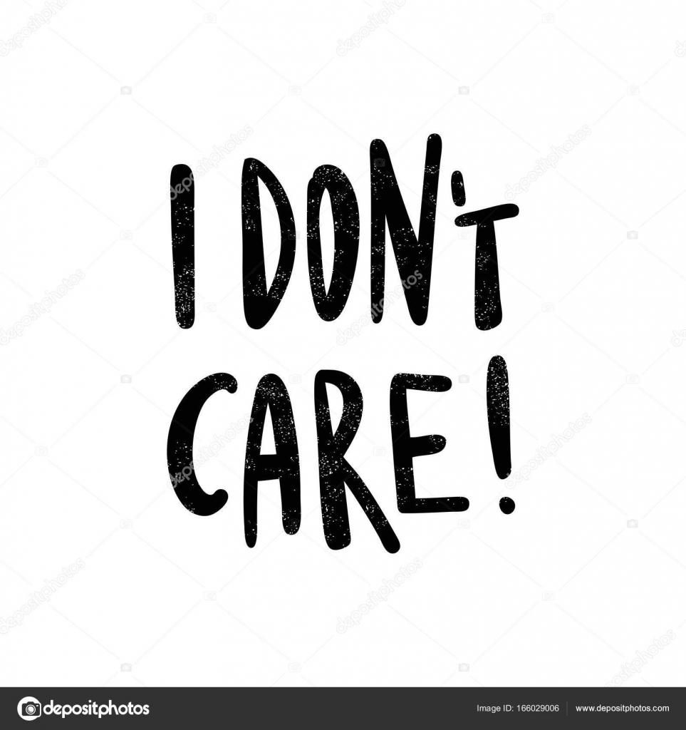 I don't care  lettering — Stock Vector © wewhitelist #166029006