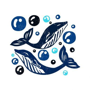Dark blue whales