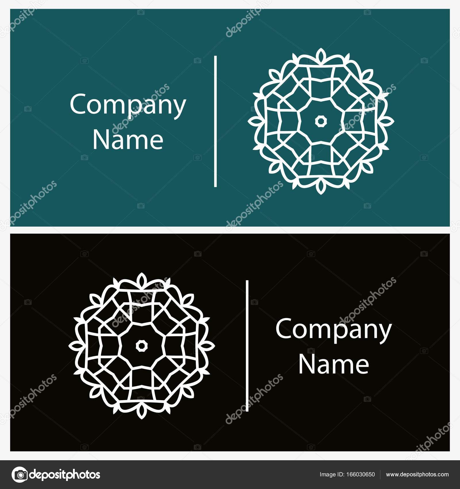 Kartenvorlage mit kreisrunden logo — Stockvektor © wewhitelist ...