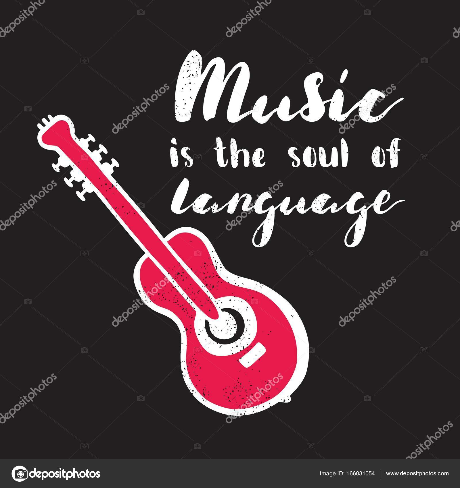 Music Is The Soul Of Language Stock Vector Wewhitelist 166031054