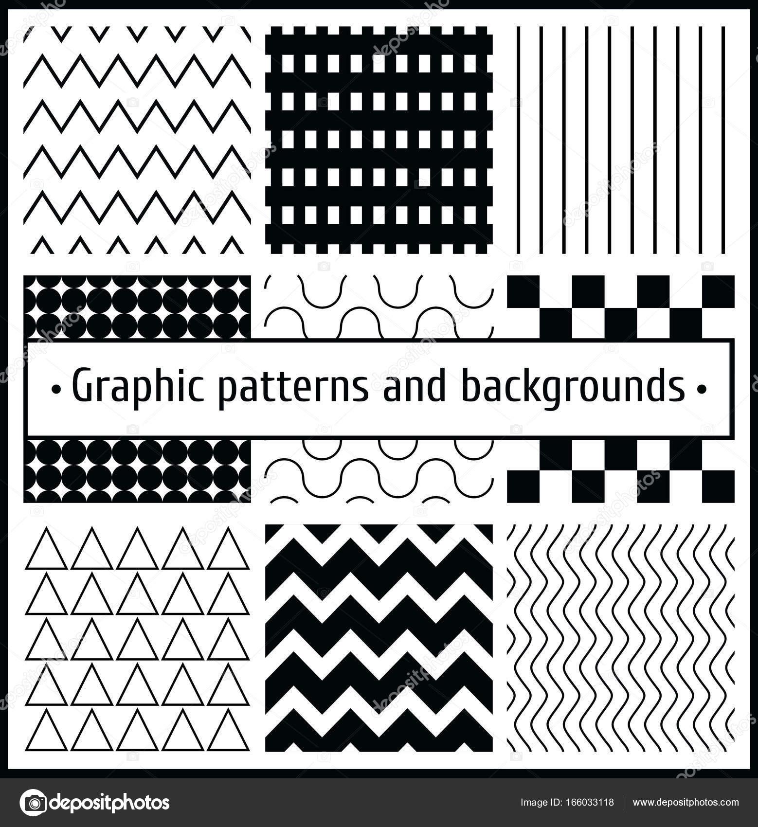 conjunto de patrones gráficos — Archivo Imágenes Vectoriales ...