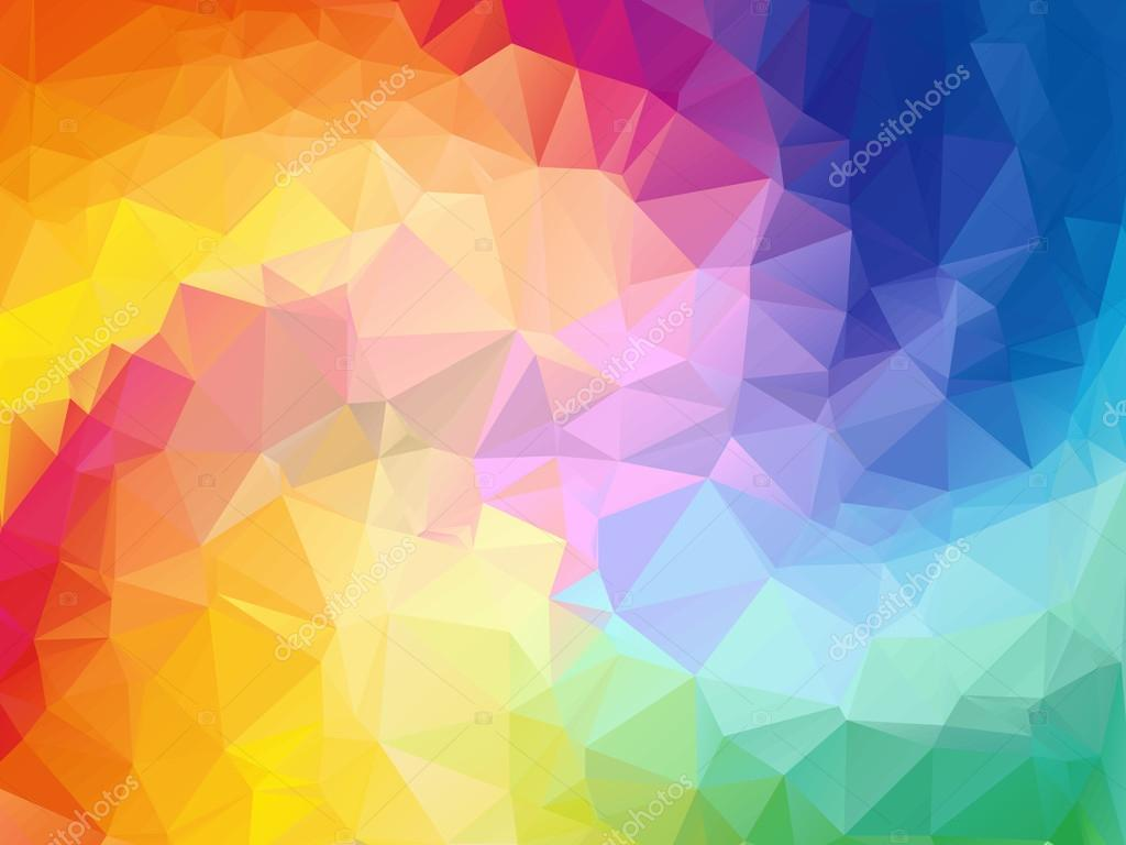colorful swirl rainbow polygon background colorful abstract vector abstract rainbow color triangle geometrical background - Rainbow Color
