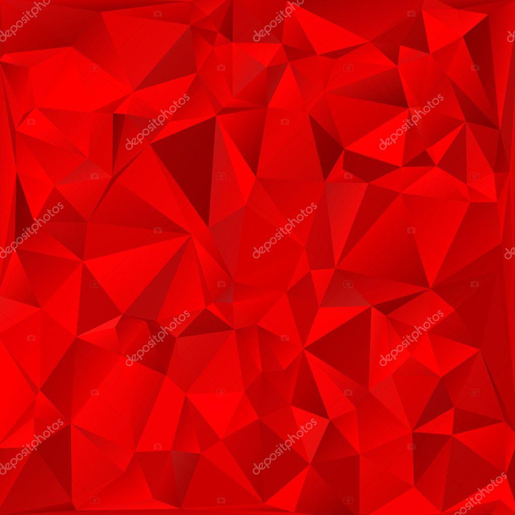 Triángulo rojo brillante polígono fondo o marco. Fondo geométrico ...