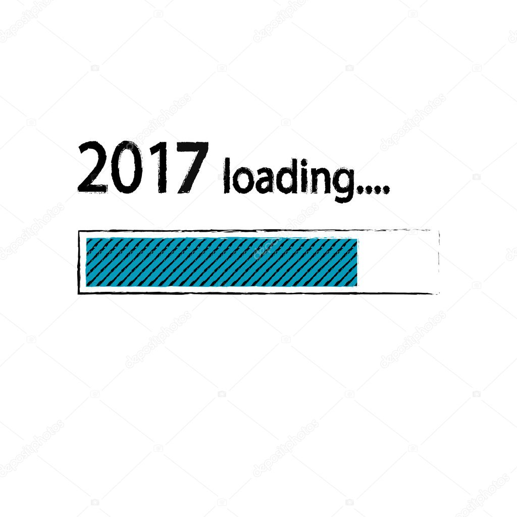 New year 2017 loading background, happy new year. Funny business ...