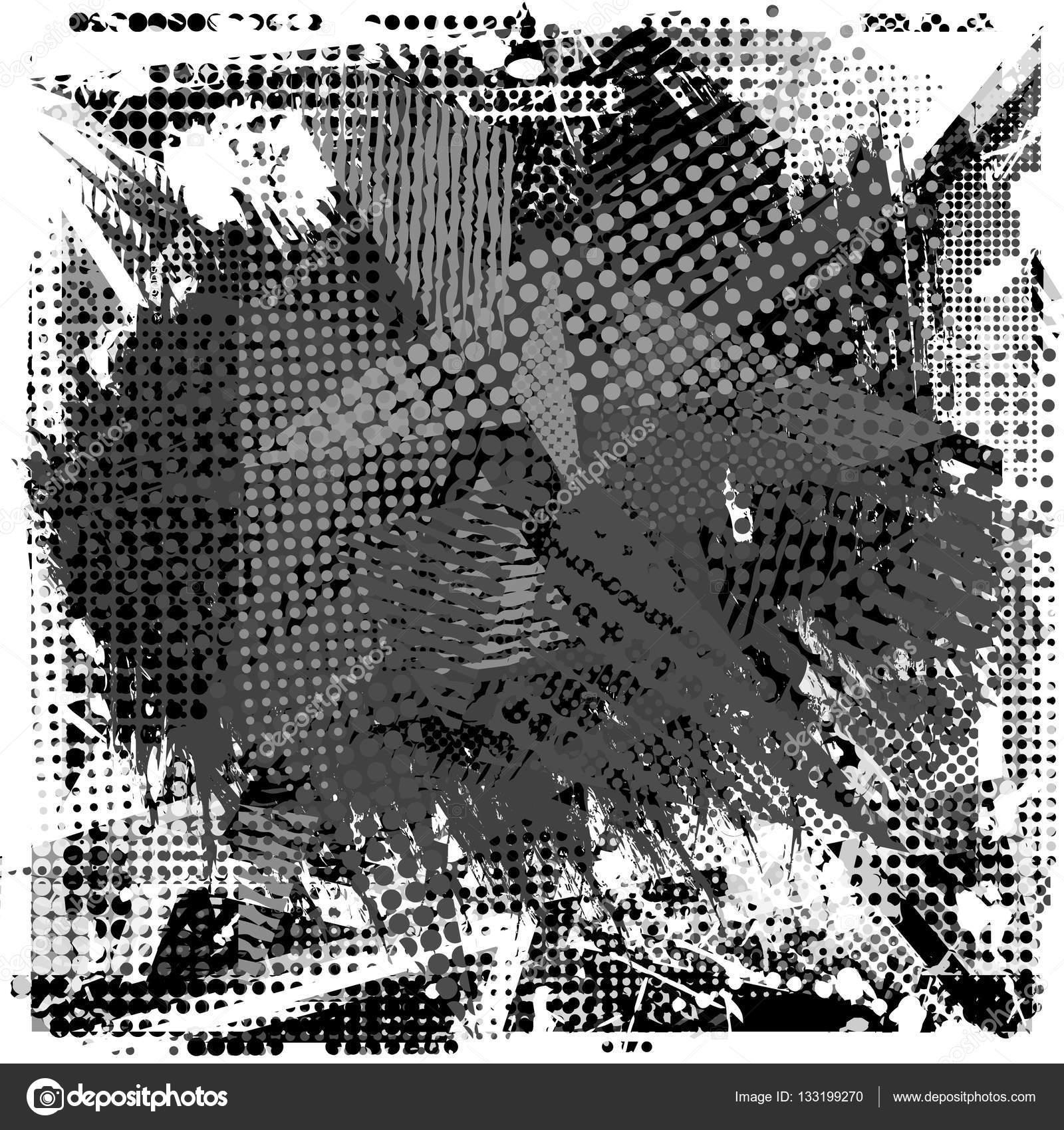 Malen Sie Schlaganfall Textfreiraum Auf Abstrakte Urbane Muster