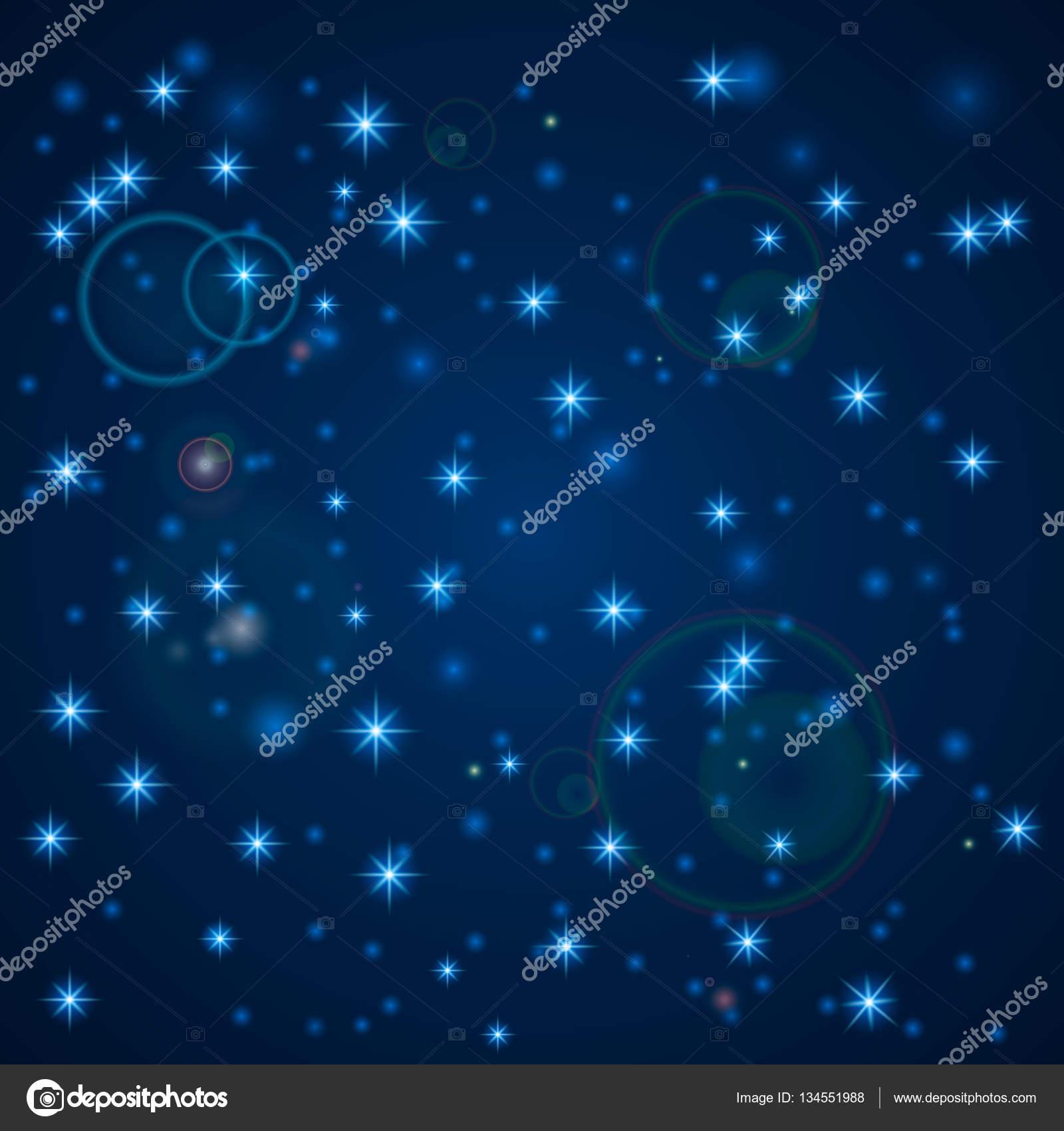 Blue abstract background nachthimmel mit sternen vektor - 3d hintergrundbilder kostenlos weihnachten ...