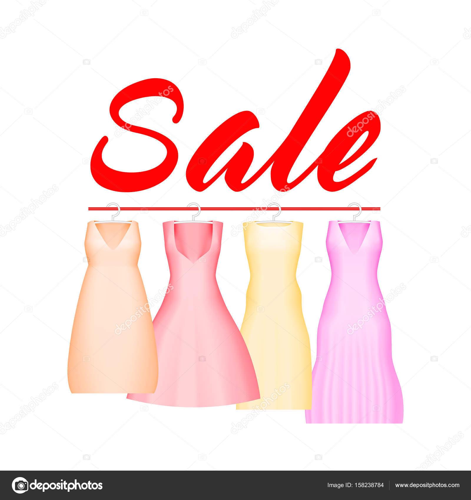 Sommer-Verkauf-Hintergrund mit lebhaften Partykleid. Vektor ...