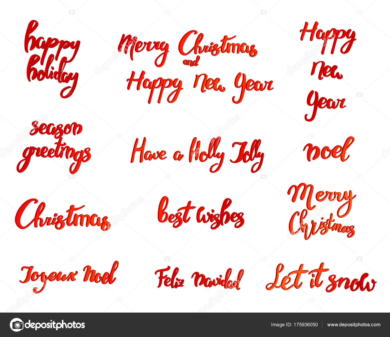 Merry Christmas Happy New Year 2018 Greeting Card Typography Xmas