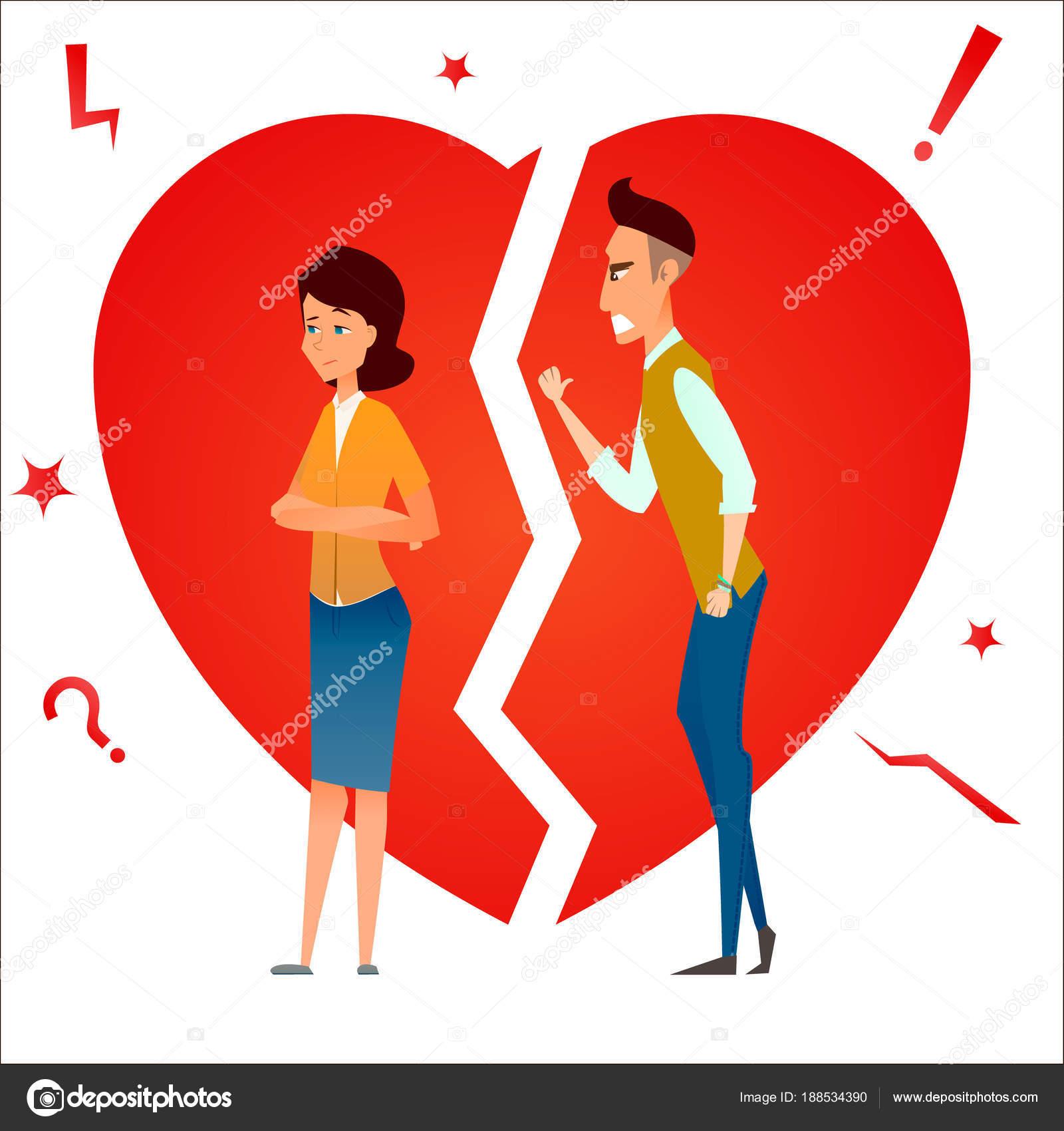Imágenes Parejas Peleando Animadas Divorcio Luchar Y