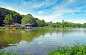 Fotografie Pond Schlossteich in Chemnitz (Germany)