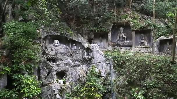 Hangzhou Happy, or Laughing, Buddha rock carving