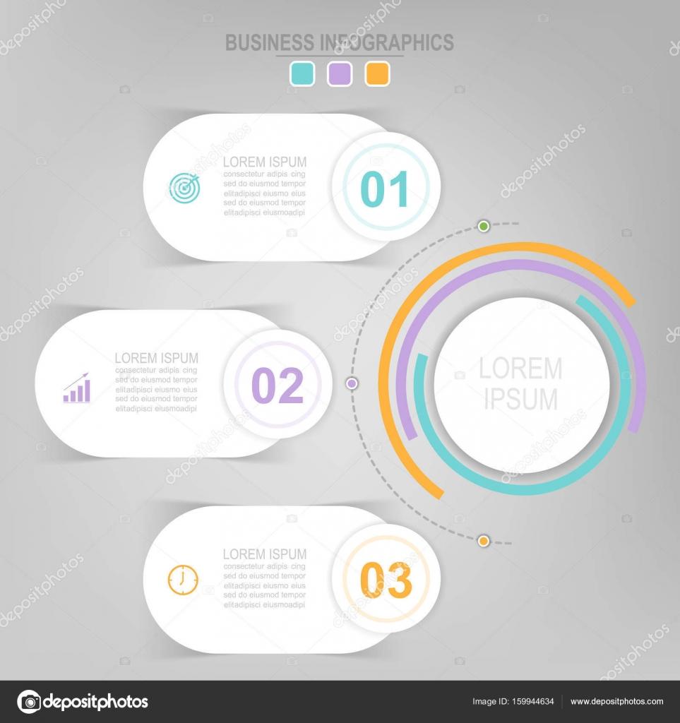 Infografik des Kreis-Element, flachen Bauweise der Business Icon ...