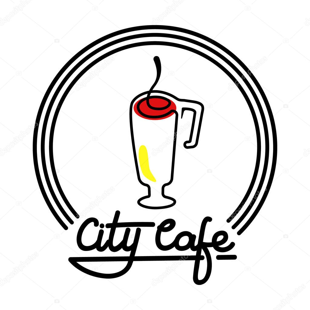 city cafe logo template design vector illustration stock vector AMD Logo city cafe logo template design vector illustration isolated on the white background vector by am am