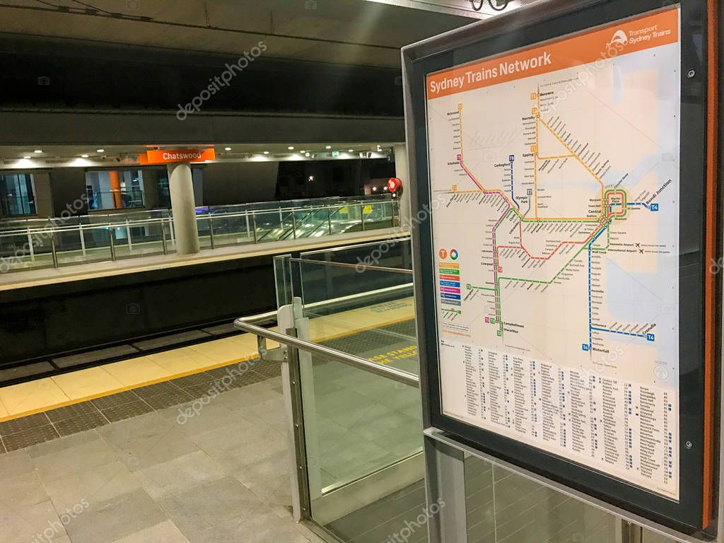 Sydney Trains Network Map – Stock Editorial Photo ...