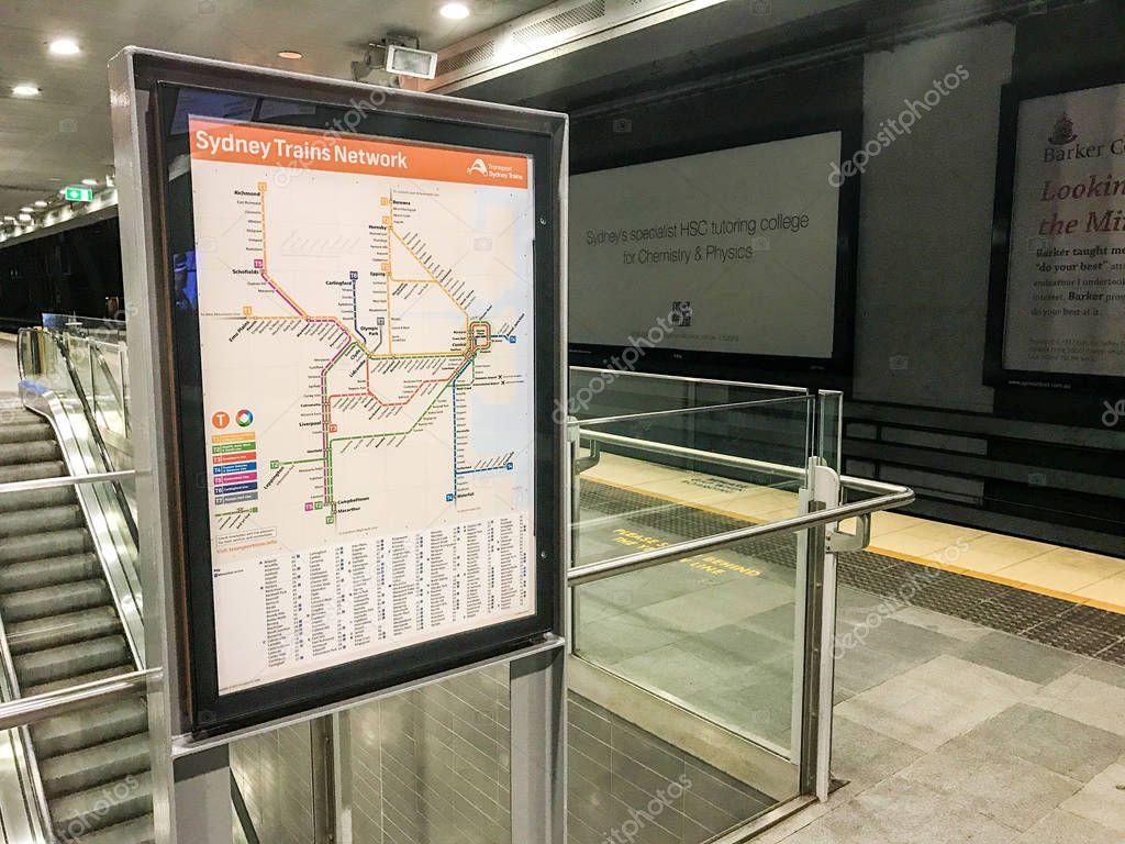 Sydney Trains Network Map – Stock Editorial Photo © mjmediabox ...