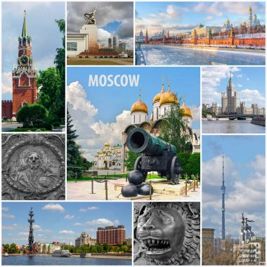 Collage Moscow, Russia, architecture