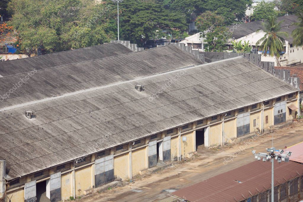 Warehouses in the port of Cochin