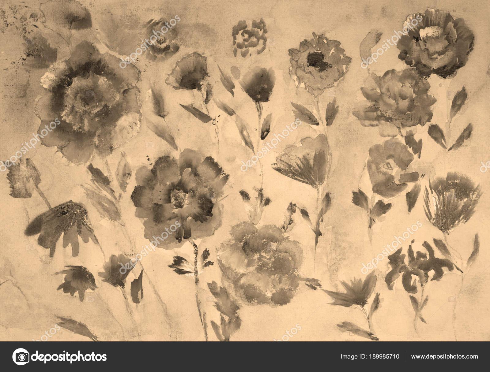 Verschiedene Arten Von Vintage Rosen Mit Sepia Tonen Die Betupfen