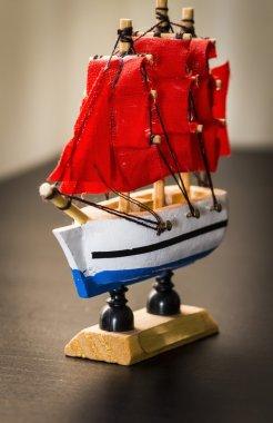 Statuette of a sailing ship