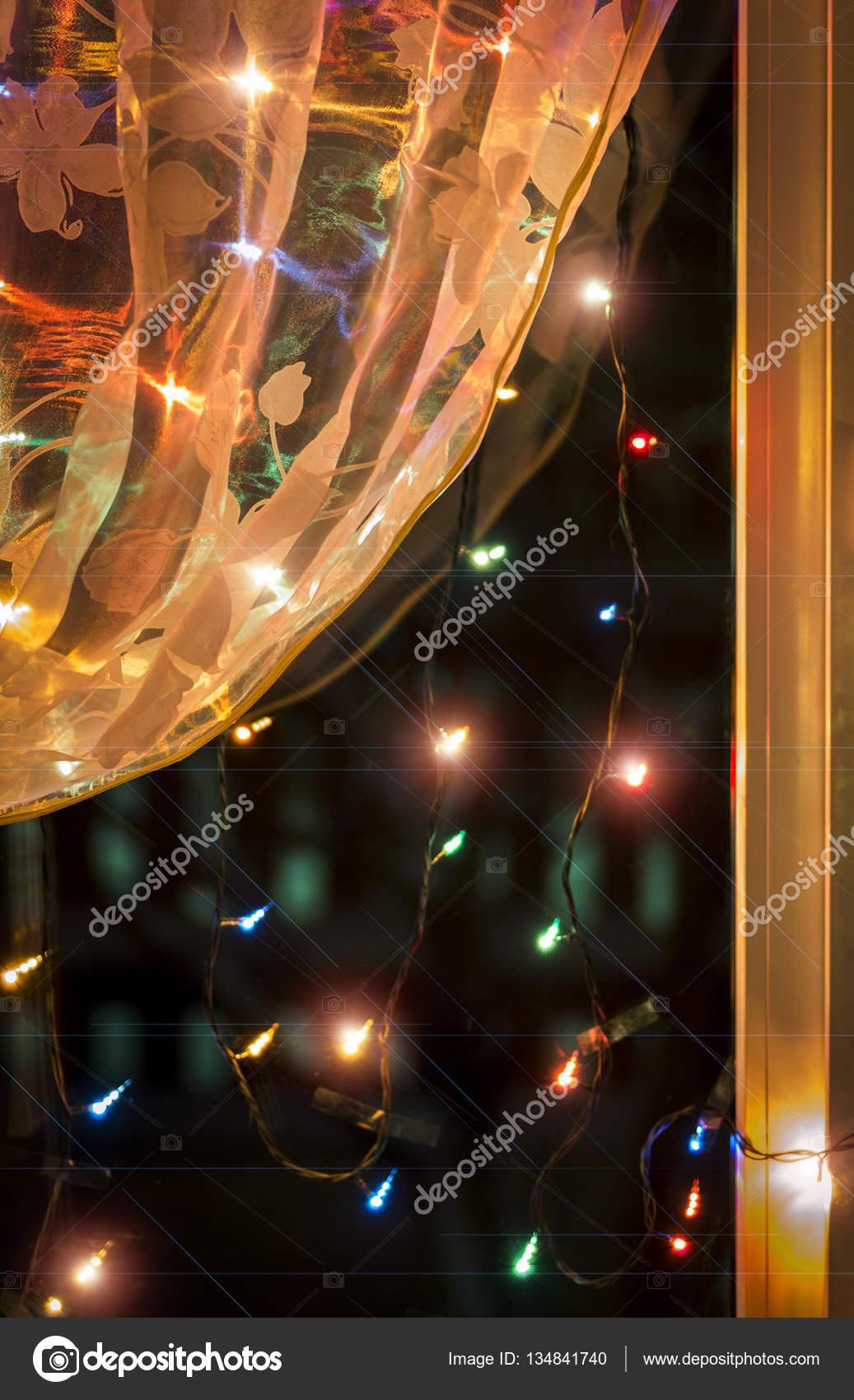 lichterkette fenster — Stockfoto © SV_Production #134841740