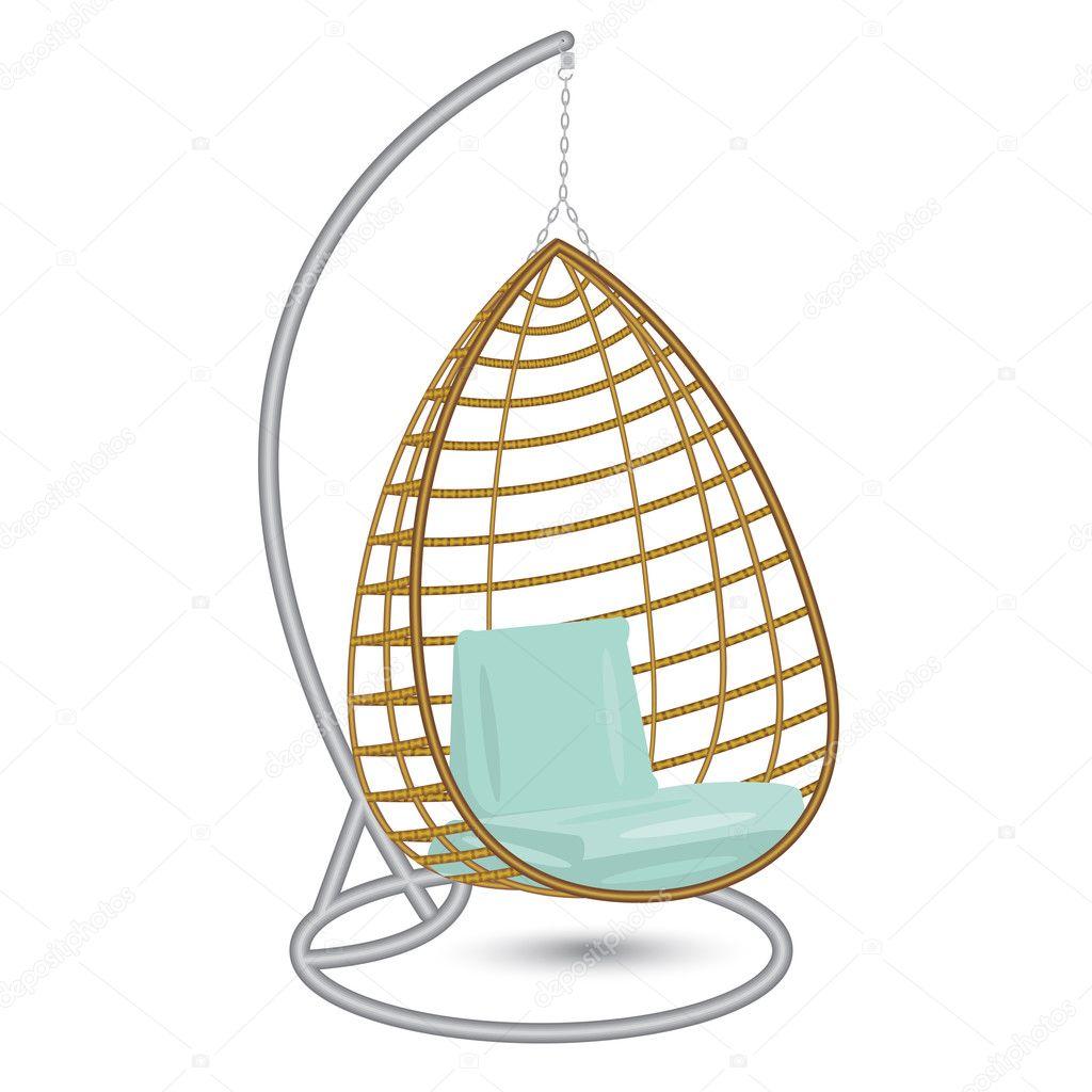hängande stol gunga på det metall racket — stock vektor © leonbul
