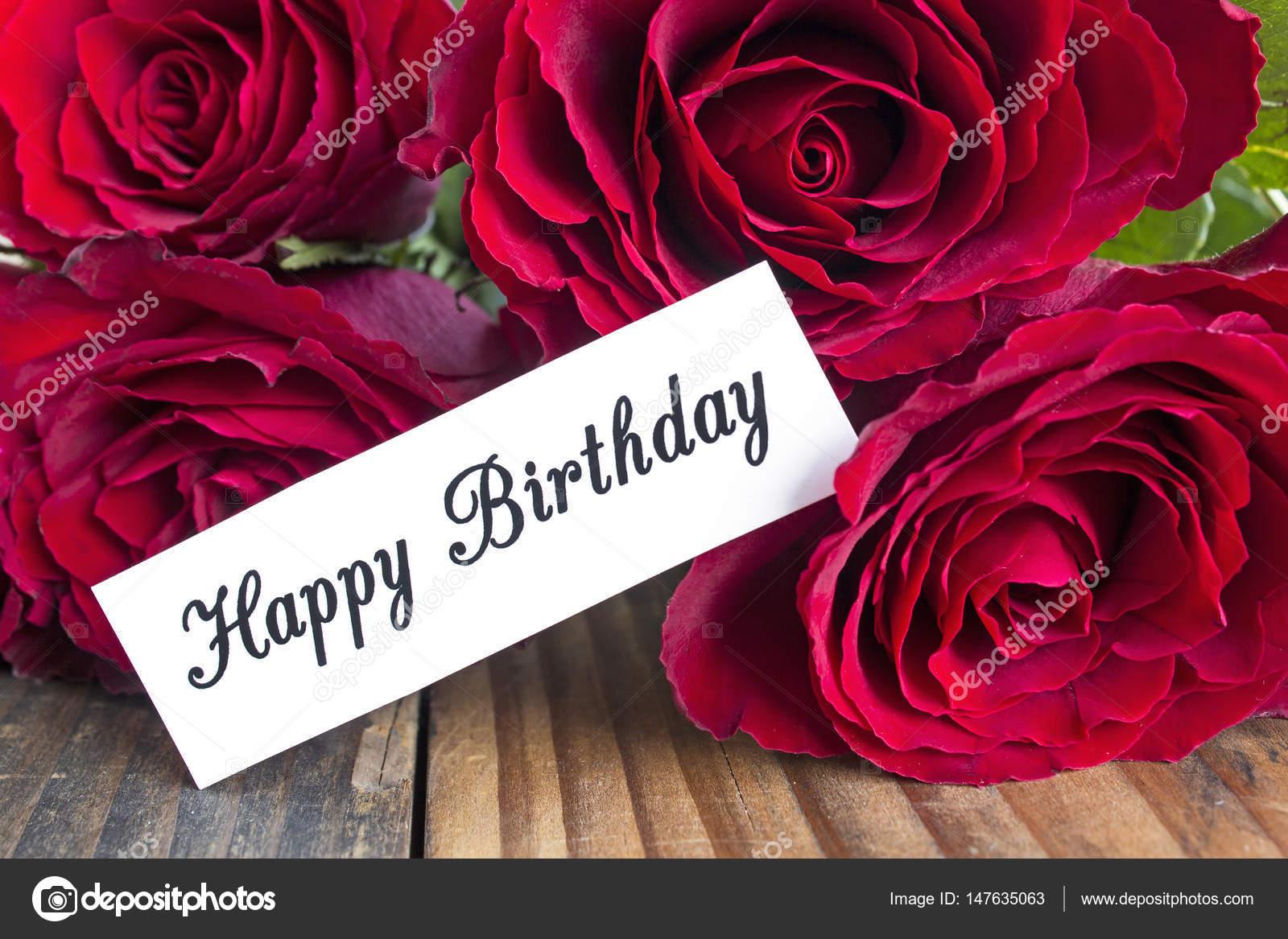 Carte Anniversaire Bouquet De Roses.Carte De Joyeux Anniversaire Avec Bouquet De Roses Rouges