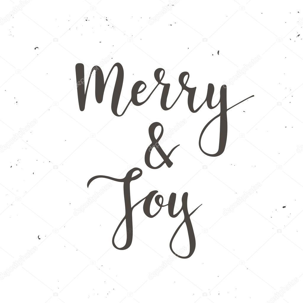 Frohe Weihnachten und Happy New Year Vintage Karten mit Kalligraphie ...