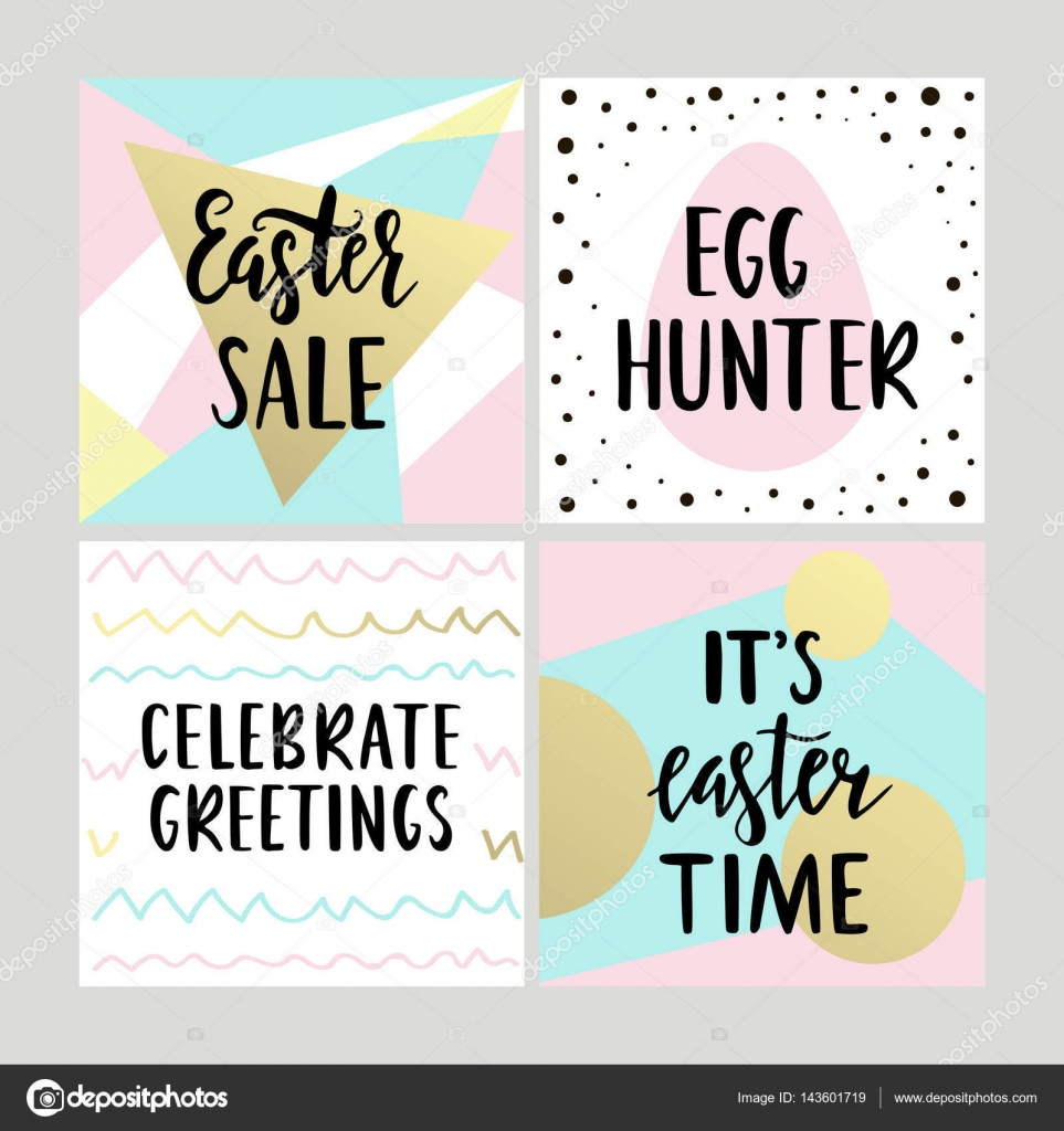 Set with happy easter gift cards with calligraphy handwritten set with happy easter gift cards with calligraphy handwritten lettering hand drawn design elements printable items vector by fafarumba negle Choice Image