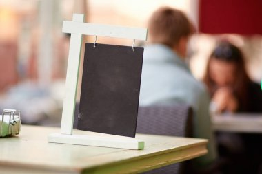 empty menu on the table