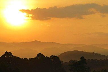 Amazing sunset in african congo